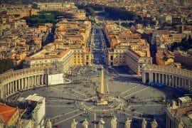 visiter le vatican vue aerienne place saint pierre rome
