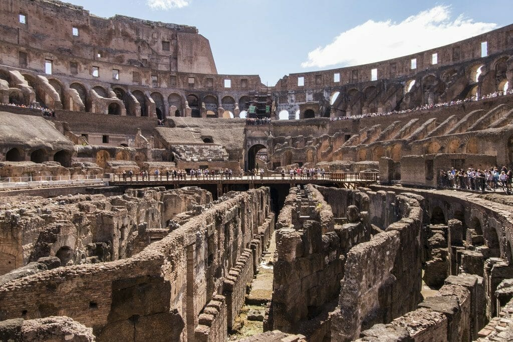visiter colisee rome vue interieure
