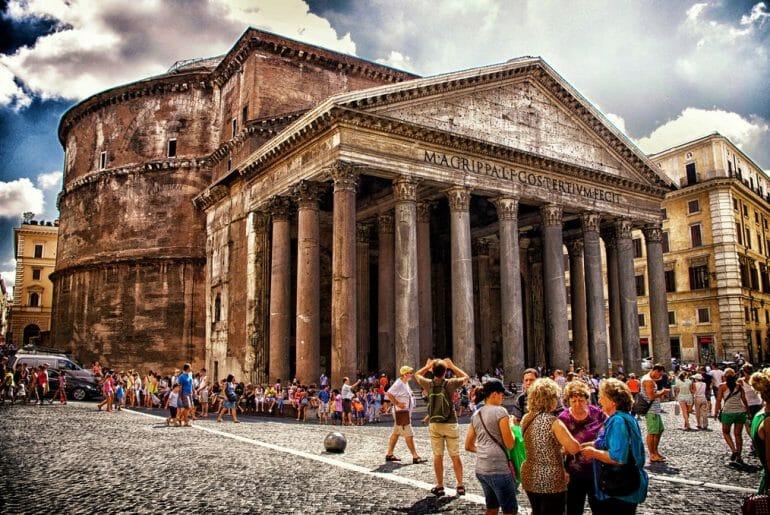 visiter le pantheon rome ete