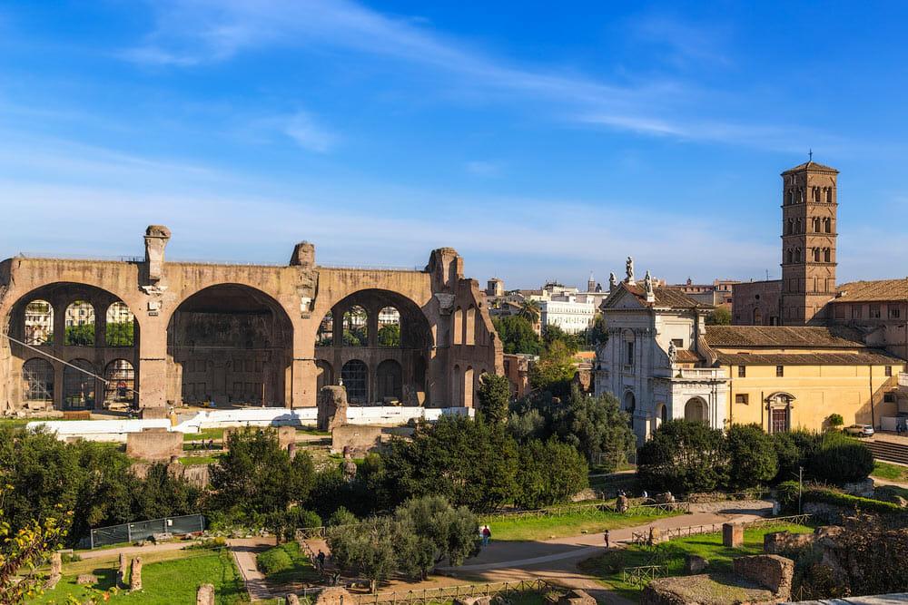 Forum Romain ruines Basilique Maxentius