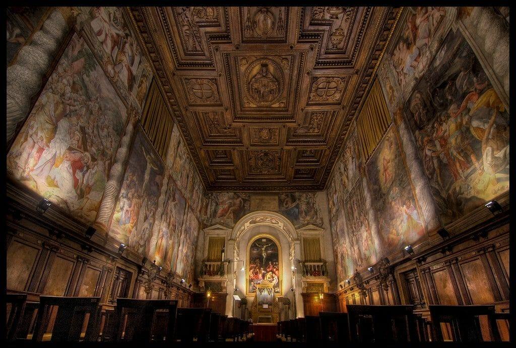 visite de la chapelle sixtine plafond rome