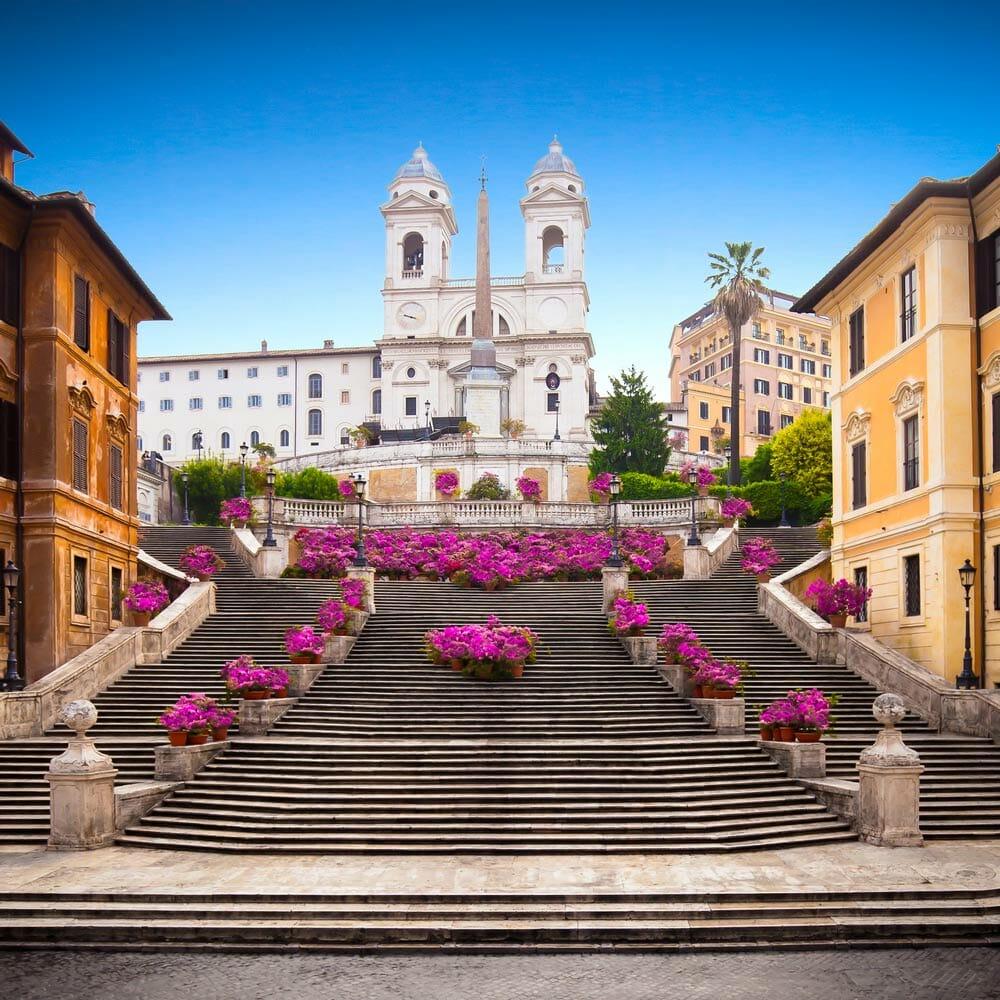 visite place espagne rome escaliers