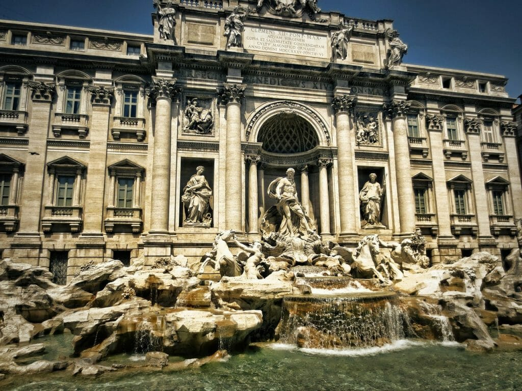 itineraire visite rome fontaine trevi