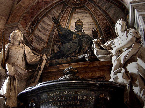 tombe pape alexandre 8 necropole basilique saint pierre