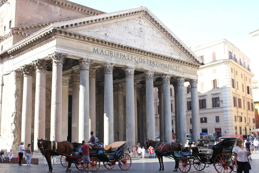 pantheon visite guidee rome francais