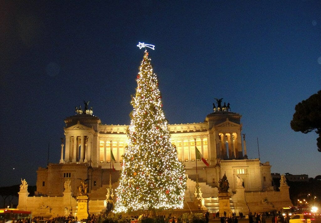 sapin noel rome piazza venezia
