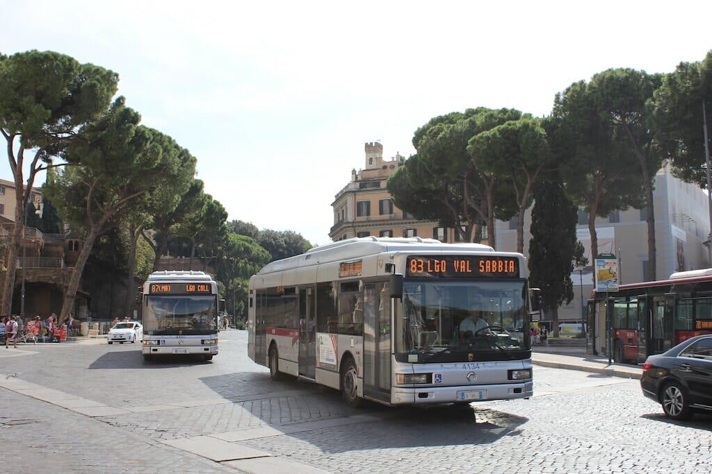 ligne bus transport rome